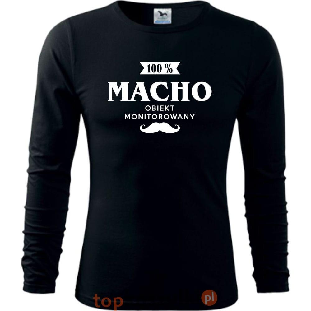 795a8bdfa76b5c Męska koszulka z dł. rękawem - Macho 100% - super prezent na ...