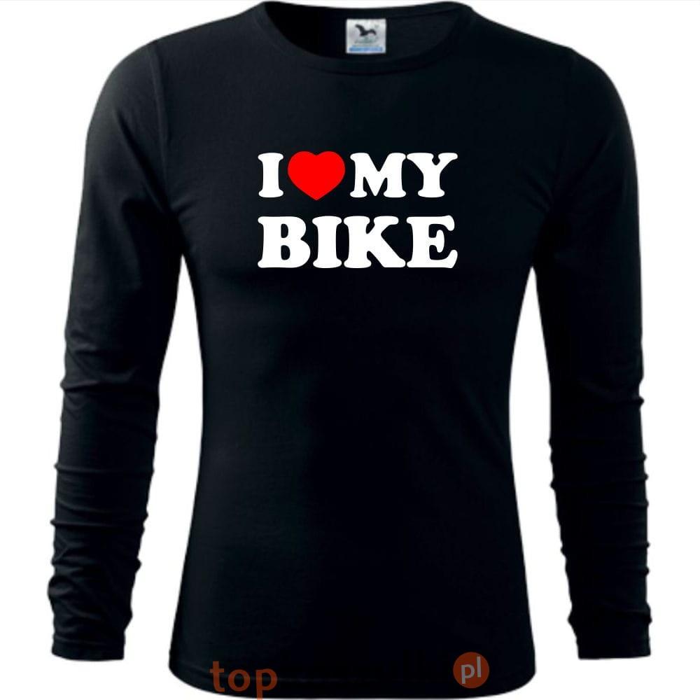105b8d473 Męska koszulka z dł. rękawem dla Rowerzysty - I love my bike - super ...