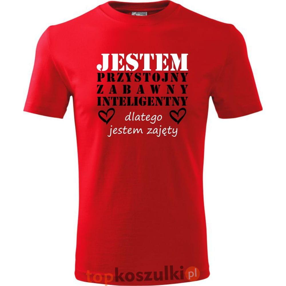 Męska koszulka Jestem Przystojny 01 super prezent na walentynki, urodziny, dzień chłopaka, święta