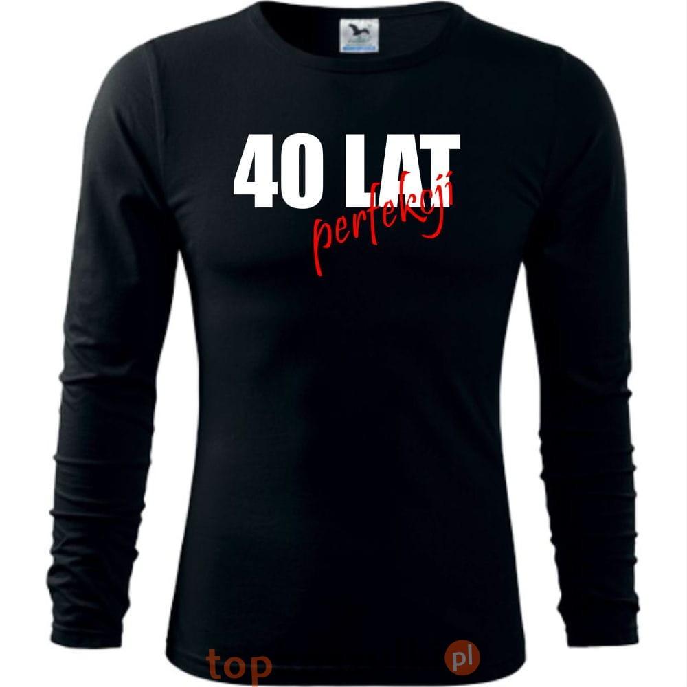 c661168fdab169 Męska koszulka z dł. rękawem - 40 lat perfekcji - super prezent na urodziny.  12.jpg