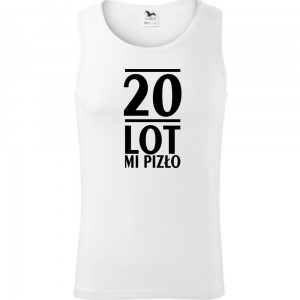 Męski tank top -  20 lot mi pizło
