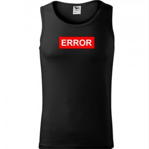Męski tank top - ERROR
