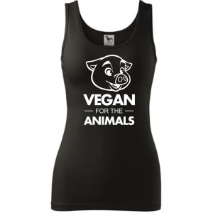 Damski tank top - VEGAN FOR THE ANILMAS