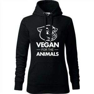 Damska bluza z kapturem - VEGAN FOR THE ANIMALS