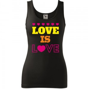 Damski tank top - LOVE IS LOVE
