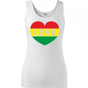 Damski tank top - LOVE LGBT