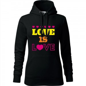 Damska bluza z kapturem - LOVE IS LOVE