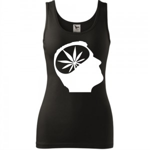 Damski tank top - ganja head, super prezent