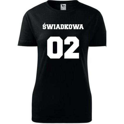 5deeeb40b Damska koszulka taliowana - Team młodej Świadkowa - super prezent na  wieczór panieński