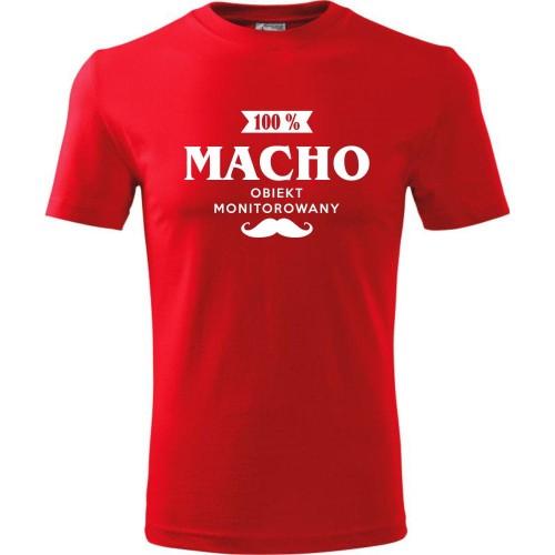 c2530c4f4cf8b8 Męska koszulka - Macho 100% - super prezent na walentynki, urodziny ...