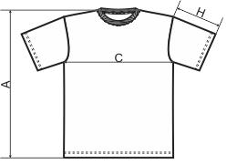 Tabela rozmiarów dziecięcej koszulki