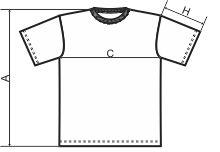 Tabela rozmiarów męskiej koszulki
