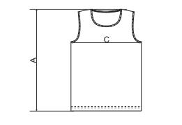 Tabela rozmiarów męskiej koszulki tank top